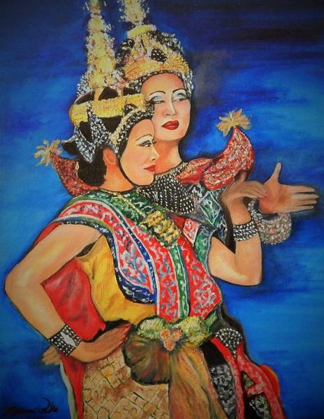 Wall Art - Painting - Thai Dancers by Marvin Pike
