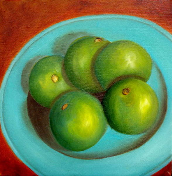 Painting - Thai Limes - Sold by Susan Dehlinger