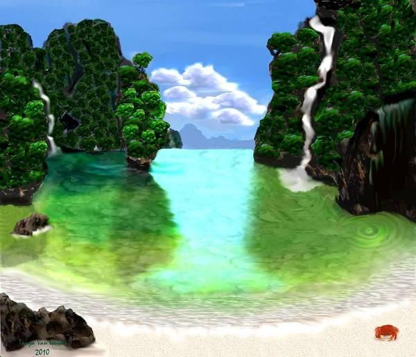 Lagoon Digital Art - Thai by Tanya Van Gorder