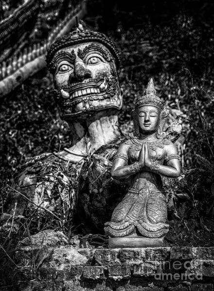 Wall Art - Photograph - Thai Temple Statues by Adrian Evans