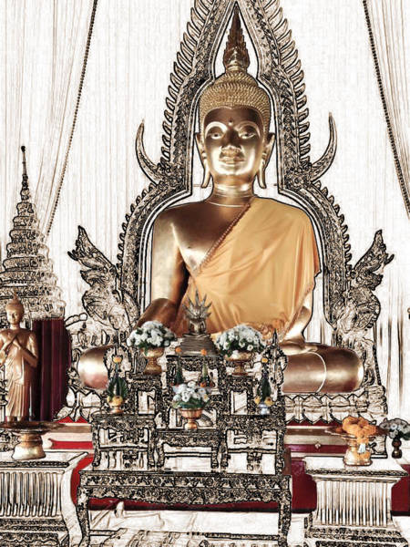 Photograph - Thailand Gold Buddha by Karla Beatty
