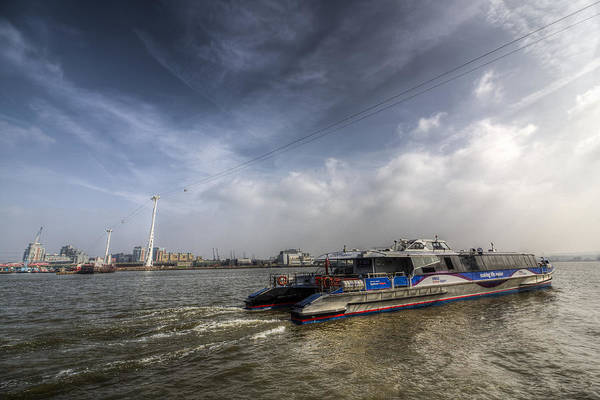 Wall Art - Photograph - Thames Clipper And Cable Car by David Pyatt