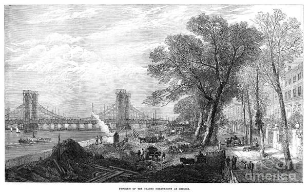 Painting - Thames Embankment 1873 by Granger