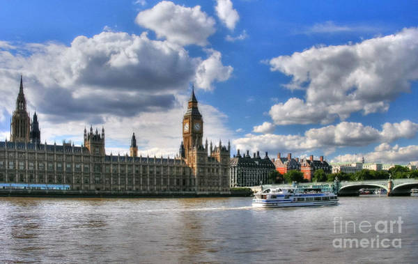 Photograph - Thames River In London 2 by Mel Steinhauer