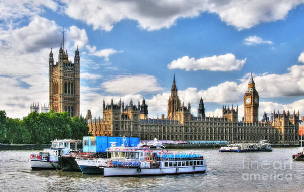 Photograph - Thames River In London by Mel Steinhauer