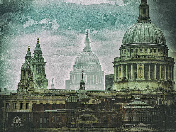 Digital Art - Thamesscape 2 -  Ghosts Of London by Leigh Kemp