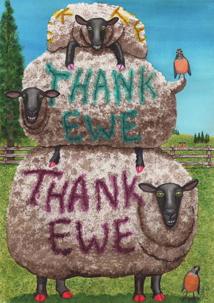 Painting - Thank Ewes by Catherine G McElroy