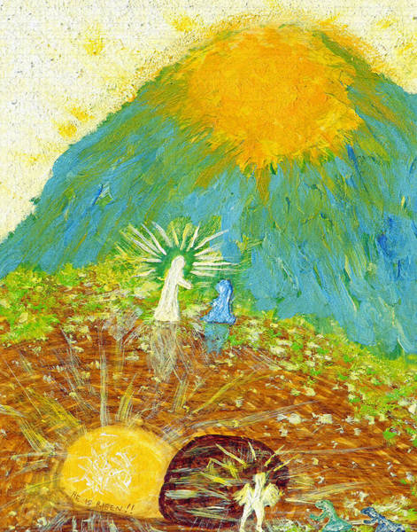 Buried Painting - Thank  God  For  Easter  Sunday by Carl Deaville