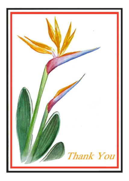 Bird Of Paradise Painting - Thank You Bird Of Paradise by Irina Sztukowski