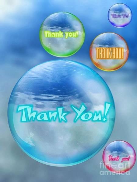 Thank You Bubbles Art Print