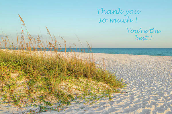 Photograph - Thank You Card - Beach by Kay Brewer
