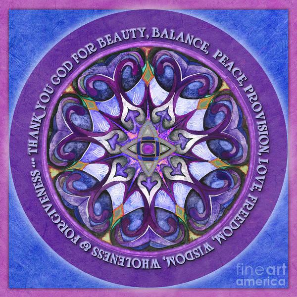 Painting - Thank You God Mandala Prayer by Jo Thomas Blaine