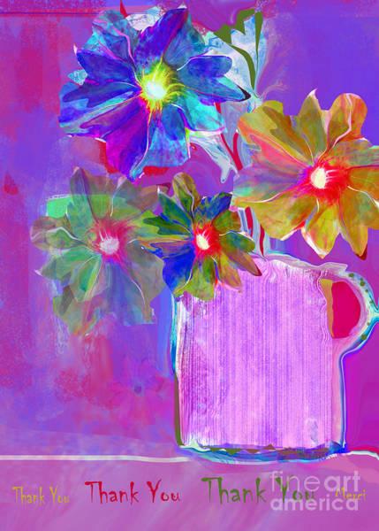 Organic Abstraction Mixed Media - Thank You No.5 by Zsanan Studio