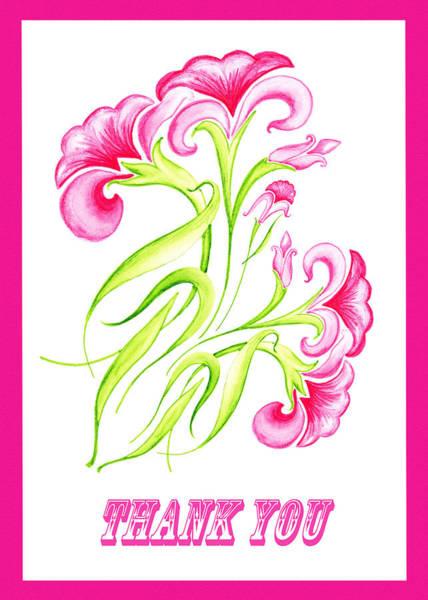 Painting - Thank You Pink Flowers by Irina Sztukowski