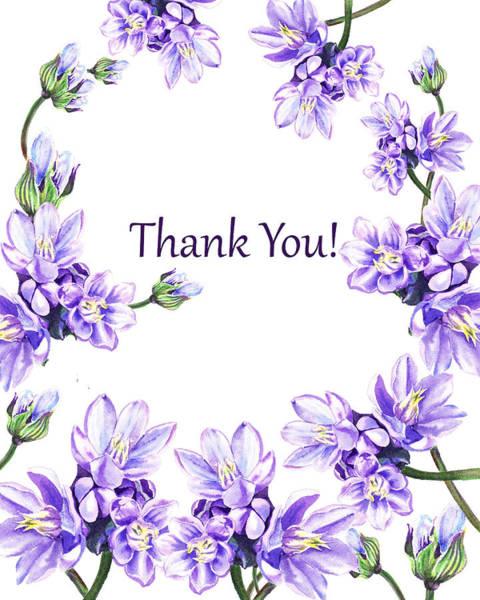 Painting - Thank You Purple Flowers Garden by Irina Sztukowski