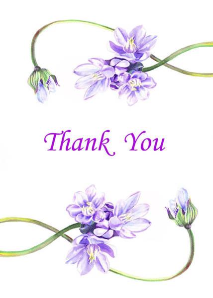 Painting - Thank You Purple Flowers by Irina Sztukowski