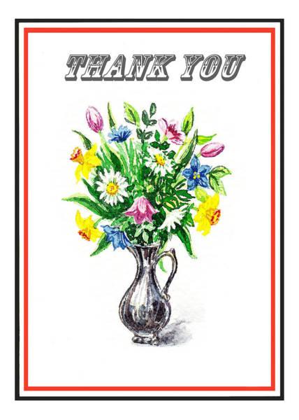Painting - Thank You Spring Flowers by Irina Sztukowski