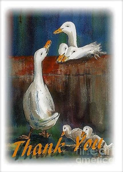 Painting - Thank You Card by Val Byrne