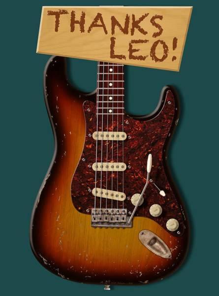 Strat Photograph - Thanks Leo Strat Shirt by WB Johnston
