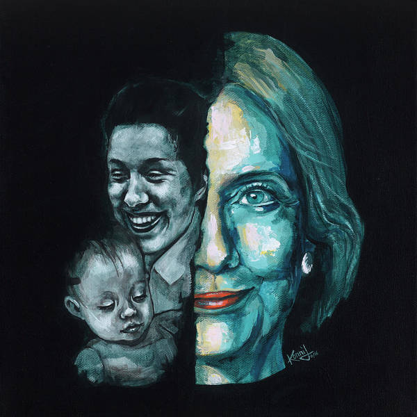 Election 2016 Painting - Thanks To Dorothy And Charlotte by Konni Jensen