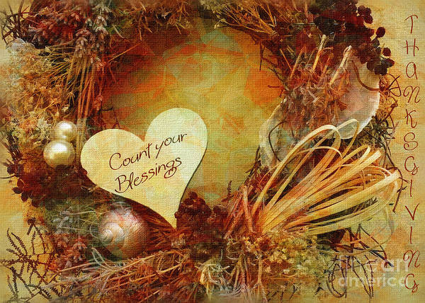 Digital Art - Thanksgiving Card 2016 by Kathryn Strick