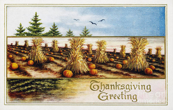 Photograph - Thanksgiving Card, C1910 by Granger