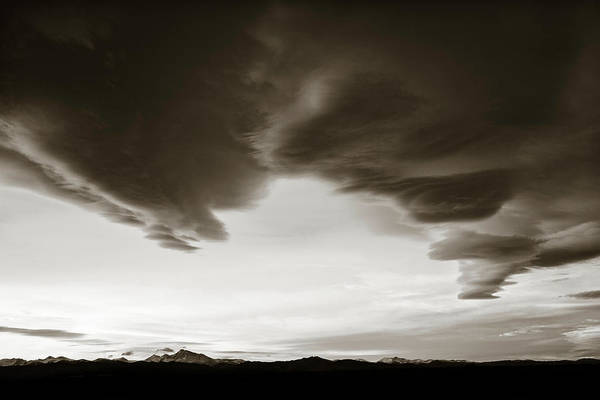 Photograph - Thanksgiving Day Sunset Bw by Marilyn Hunt