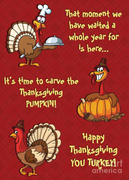 Thanksgiving Dinner Digital Art - Thanksgiving Pumpkin by JH Designs