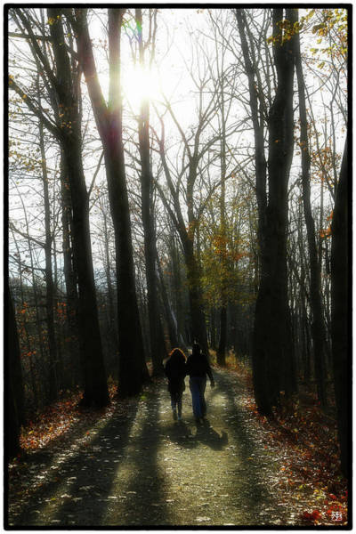 Photograph - Thanksgiving Walk by John Meader