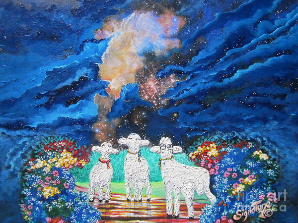 Painting - Bright Brilliant Biblical Star Bursts  by Sigrid Tune