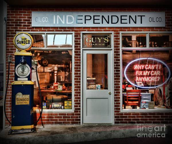 Wall Art - Photograph - That Old Time Gas Station by Paul Ward