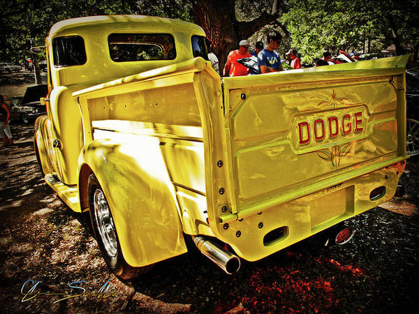 Wall Art - Photograph - That Old Yellow Dodge Pickup by Chas Sinklier