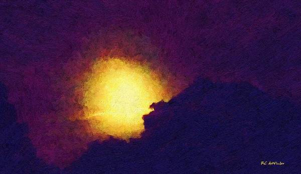 Painting - That September Moon by RC DeWinter