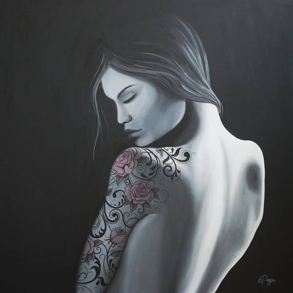 Painting - That Tattoo Girl by Emily Page