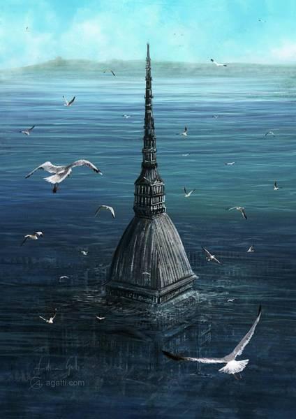 Ocean Scape Digital Art - That Was A Mole by Andrea Gatti