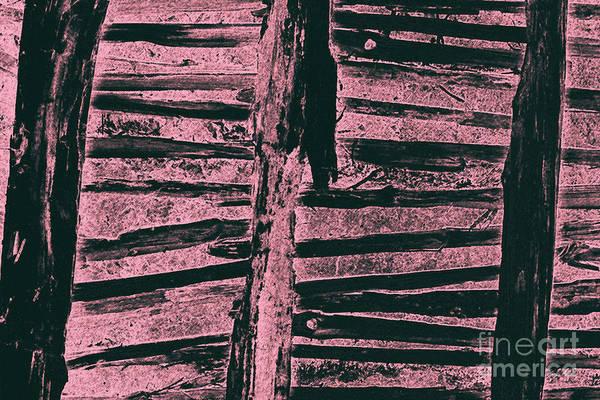 Donegal Digital Art - Thatch Rafters 3 by Eddie Barron