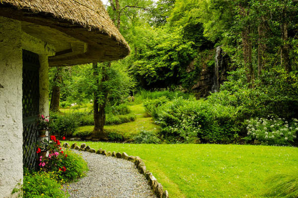 Gleeson Photograph - Thatched Cottage And Waterfall by Fergal Gleeson