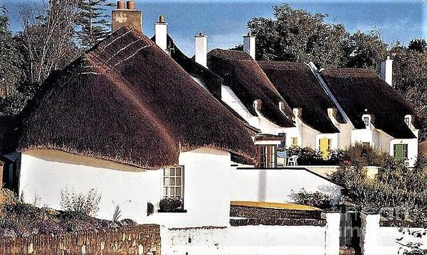 Photograph - Thatched Cottages Dunmore East by Val Byrne
