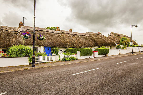 Dunmore East Photograph - Thatched Cottages by Ed James