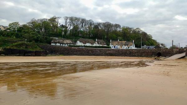 Dunmore East Photograph - Thatched Cottages In Dunmore East Ireland  by Catherine McGrath