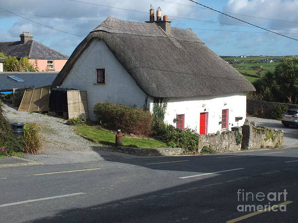 Photograph - Thatched In Annestown  On The Copper Coast by Val Byrne