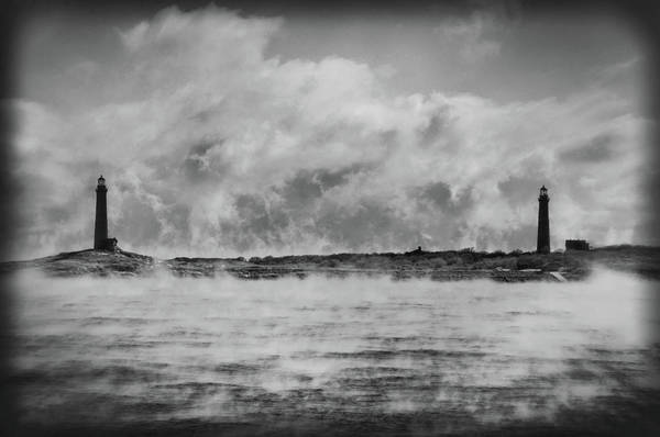 Photograph - Thatcher Island Twin Lights - Rockport Ma by Joann Vitali