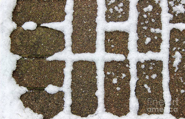 Photograph - Snow Traces Abstract by Karen Adams