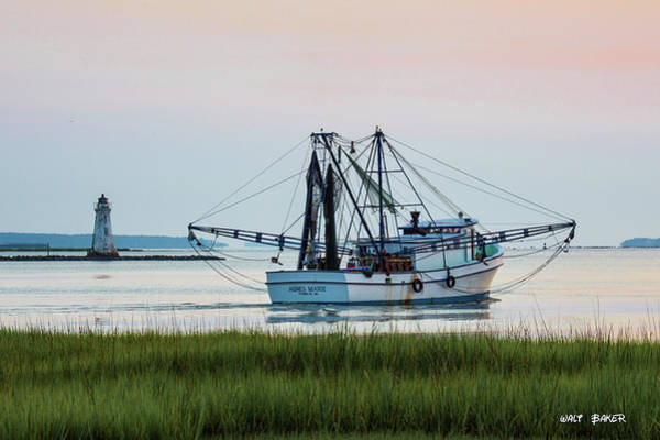 Tybee Island Photograph - That's Where The Shrimp Are My Boy by Walt  Baker