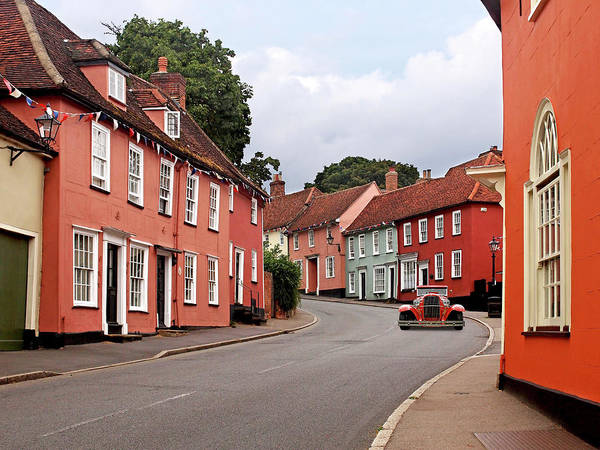 Photograph - Thaxted Colourful Cottages by Gill Billington
