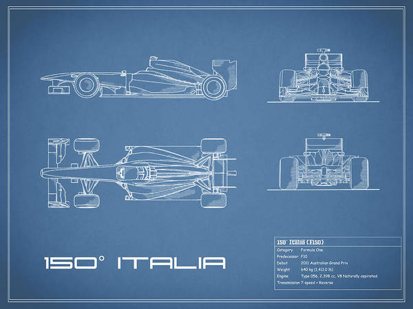 Wall Art - Photograph - The 150 Italia Gp Blueprint by Mark Rogan
