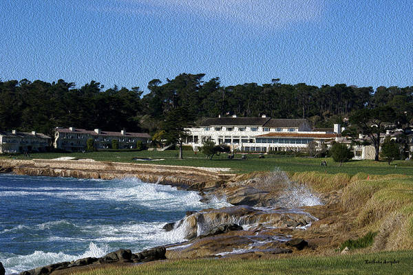Painting - The 18th At Pebble Beach Painting by Barbara Snyder