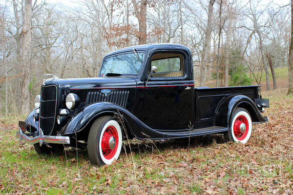 Taper Photograph - The 1935 Ford Pickup by Kathy White