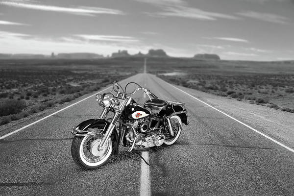 Harley Davidson Black And White Wall Art - Photograph - The 1959 Duo Glide by Mark Rogan
