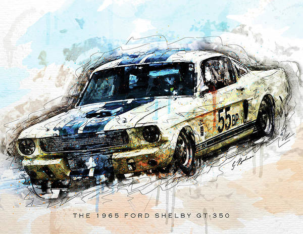 Wall Art - Digital Art - The 1965 Ford Shelby Gt 350 II by Gary Bodnar